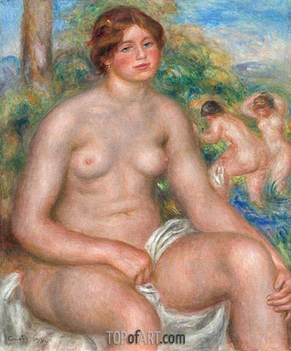 Seated Bather, 1914 | Renoir | Painting Reproduction