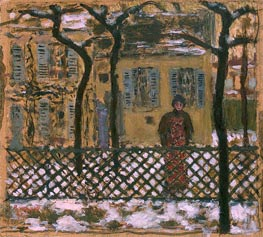 Behind the Fence, 1895 by Pierre Bonnard | Painting Reproduction