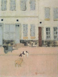Two Dogs in a Deserted Street | Pierre Bonnard | Gemälde Reproduktion