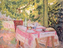 Table Set in a Garden, c.1908 von Pierre Bonnard | Gemälde-Reproduktion