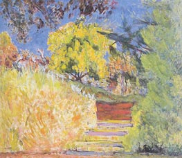 Stairs in the Artist's Garden, c.1942/44 von Pierre Bonnard | Gemälde-Reproduktion