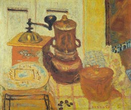 The Coffee Mill, 1930 von Pierre Bonnard | Gemälde-Reproduktion