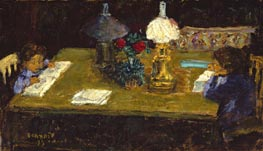 Interior The Terrasse Children | Pierre Bonnard | Painting Reproduction