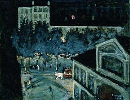 Paris Boulevard at Night, 1900 by Pierre Bonnard | Painting Reproduction