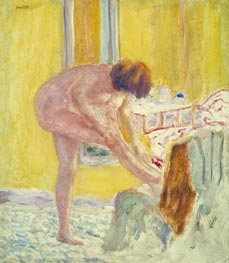 Nude Yellow Background, c.1924 by Pierre Bonnard | Painting Reproduction
