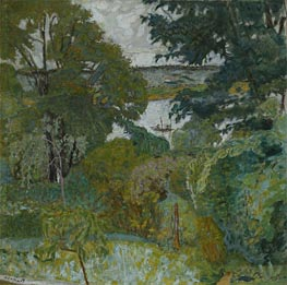 The Seine at Vernon, 1925 by Pierre Bonnard | Painting Reproduction