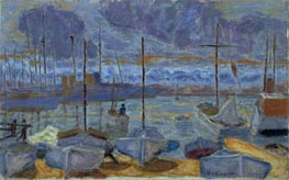 The Port of Cannes, 1927 by Pierre Bonnard | Painting Reproduction