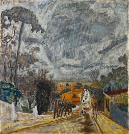 The Road to Nantes, 1929 by Pierre Bonnard | Painting Reproduction