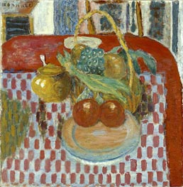The Checkered Tablecloth | Pierre Bonnard | Painting Reproduction