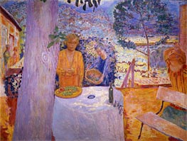 The Terrace at Vernon, 1939 by Pierre Bonnard | Painting Reproduction