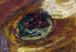 Still Life Cherries, c.1942 by Pierre Bonnard | Painting Reproduction