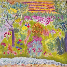 Garden: Meadow in Bloom, c.1935 by Pierre Bonnard | Painting Reproduction