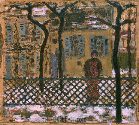 Behind the Fence, 1895 | Pierre Bonnard | Painting Reproduction