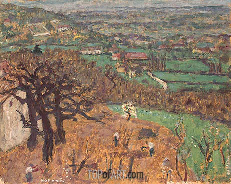Dauphine Landscape, c.1899 | Pierre Bonnard | Painting Reproduction
