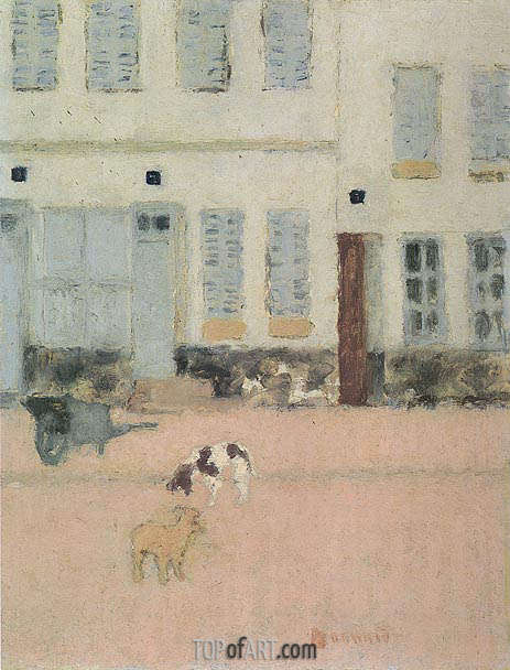 Two Dogs in a Deserted Street, c.1894 | Pierre Bonnard | Painting Reproduction