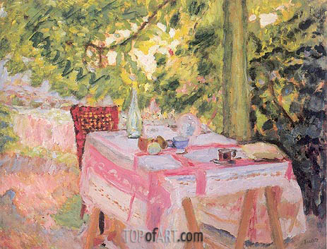 Table Set in a Garden, c.1908 | Pierre Bonnard | Painting Reproduction