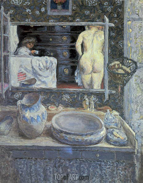 The Bathroom Mirror, 1908 | Pierre Bonnard | Painting Reproduction