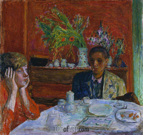 The Dessert (After Dinner), c.1920 | Pierre Bonnard | Painting Reproduction