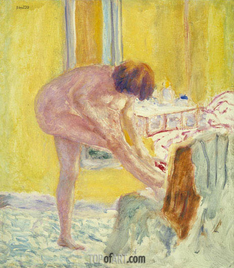 Nude Yellow Background, c.1924 | Pierre Bonnard | Painting Reproduction