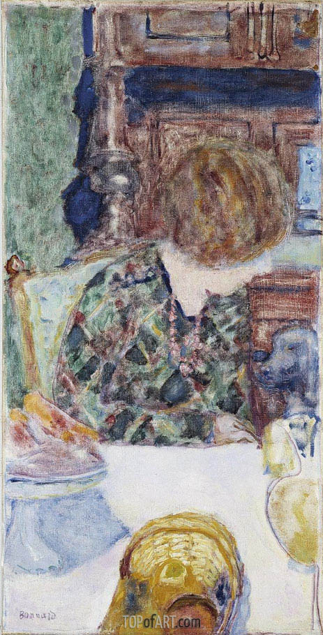 Woman with Dog, 1924 | Pierre Bonnard | Painting Reproduction