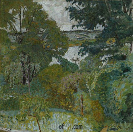 The Seine at Vernon, 1925 | Pierre Bonnard | Painting Reproduction