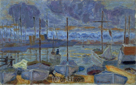 The Port of Cannes, 1927 | Pierre Bonnard | Painting Reproduction
