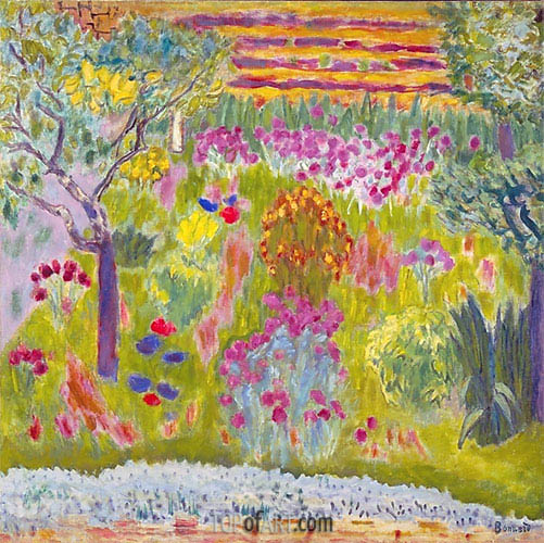 Garden: Meadow in Bloom, c.1935 | Pierre Bonnard | Painting Reproduction