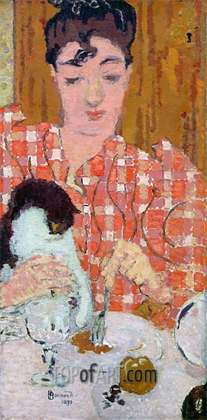 The Checkered Blouse, 1892 | Pierre Bonnard | Painting Reproduction