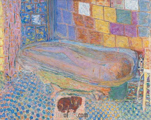 Nude in Bathtub, c.1940/46 | Pierre Bonnard | Painting Reproduction
