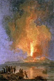 The Eruption of Vesuvius, undated von Pierre Jacques Volaire | Gemälde-Reproduktion