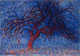 Evening: The Red Tree, c.1908/10 by Mondrian | Painting Reproduction