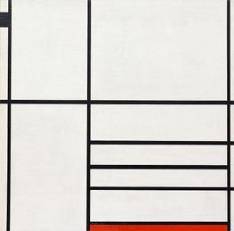 Composition in White, Black and Red | Mondrian | Painting Reproduction