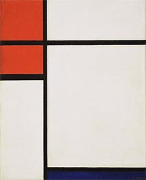 Composition with Red and Blue | Mondrian | Painting Reproduction