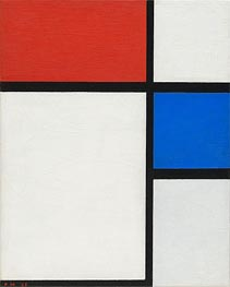 Composition No. II, with Red and Blue | Mondrian | Painting Reproduction