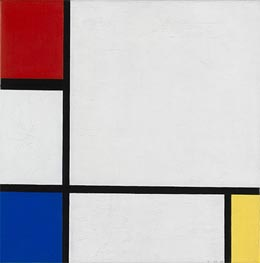Composition No. IV, with Red, Blue and Yellow | Mondrian | Painting Reproduction