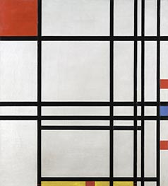 Abstraction, c.1939/42 by Mondrian | Painting Reproduction