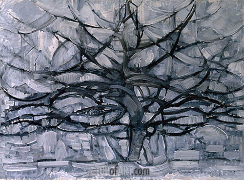 The Gray Tree, 1911 | Mondrian | Painting Reproduction