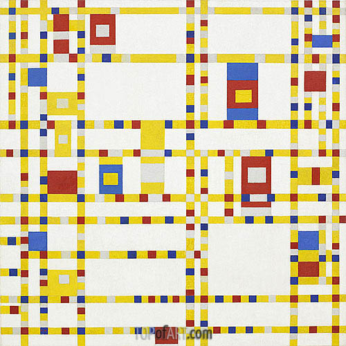 Broadway Boogie Woogie, c.1942/43 | Mondrian | Painting Reproduction