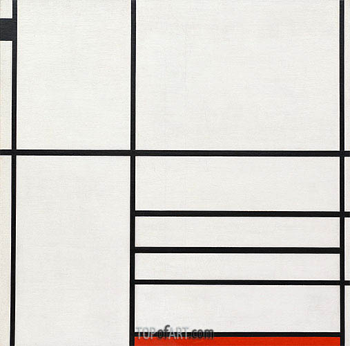 Composition in White, Black and Red, 1936 | Mondrian | Painting Reproduction