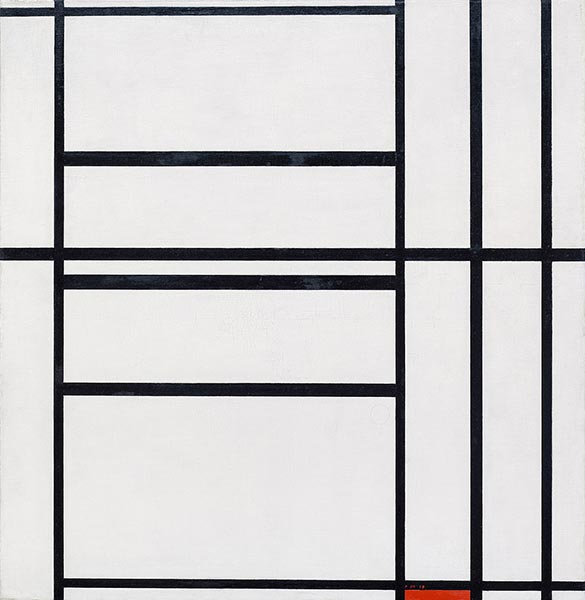 Composition No 1 with Grey and Red, 1938 | Mondrian | Painting Reproduction