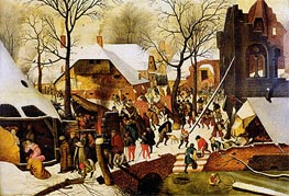 The Adoration of the Magi | Pieter Bruegel the Younger | Painting Reproduction
