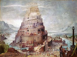 Tower of Babel, a.1563 von Pieter Bruegel the Younger | Gemälde-Reproduktion