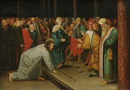 Christ and the Woman Taken in Adultery, c.1600 von Pieter Bruegel the Younger | Gemälde-Reproduktion