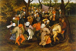 Peasant Wedding Dance, 1607 von Pieter Bruegel the Younger | Gemälde-Reproduktion