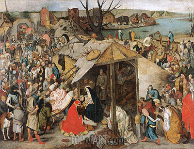 The Adoration of the Magi, c.1595 | Pieter Bruegel the Younger | Gemälde Reproduktion