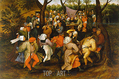 Peasant Wedding Dance, 1607 | Pieter Bruegel the Younger | Painting Reproduction
