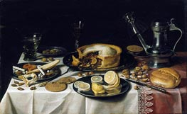 Still Life, c.1625/30 by Pieter Claesz | Painting Reproduction