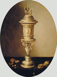 Still Life with the Covered Cup of the Haarlem Brewer's Guild, 1641 by Pieter Claesz | Painting Reproduction