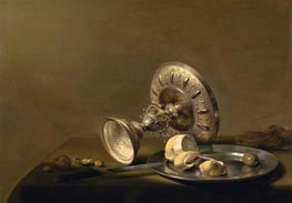 Still Life with a Tazza, undated by Pieter Claesz | Painting Reproduction