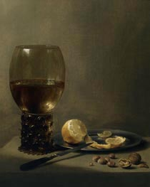 Still Life with a Large Roemer, undated by Pieter Claesz | Painting Reproduction